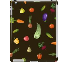 with growing vegetables - beetroot, potato, carrot, garlic and onion iPad Case/Skin