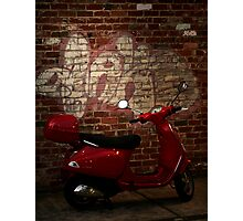 little red motorbike Photographic Print
