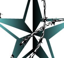 Barbed Wire Nautical Star Sticker