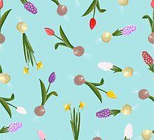 spring background sweet seamless flovers pattern by OlgaBerlet