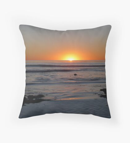 """Candy Corn Sunset"" Throw Pillow"