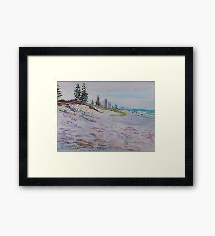 Surfers Paradise Highrises from Broadbeach circa 1984 Framed Print