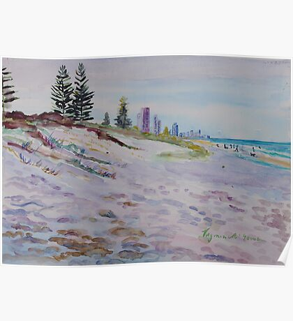Surfers Paradise Highrises from Broadbeach circa 1984 Poster