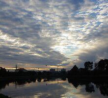 Maribyrnong River Sunrise by Derek Kan