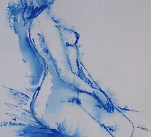 Watercolour  Model by Virginia McGowan