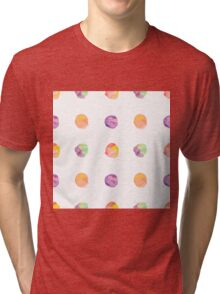 Abstract vector watercolor textured hand painted background Tri-blend T-Shirt