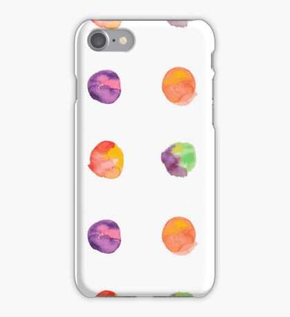 Abstract vector watercolor textured hand painted background iPhone Case/Skin