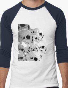 Skulls incoming - Left Men's Baseball ¾ T-Shirt