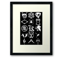 Anime Logos 2_White Framed Print