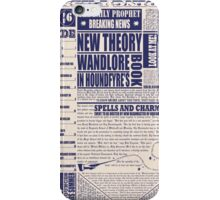 Wizarding Newspaper during Coffee iPhone Case/Skin