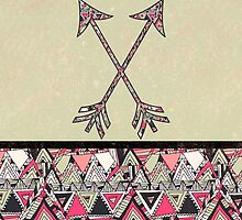 Retro Tribal Arrows Vintage Earth Aztec Pattern by GirlyTrend