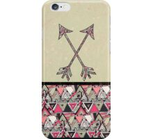 Retro Tribal Arrows Vintage Earth Aztec Pattern iPhone Case/Skin