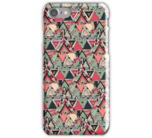 Retro Tribal Aztec Pattern Boho Orange Triangles iPhone Case/Skin