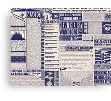 Wizarding Newspaper during Coffee Canvas Print