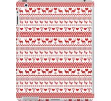 Red and White Christmas Reindeer iPad Case/Skin