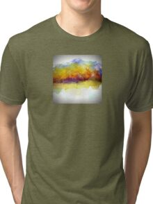 Simply Beautiful Golden Landscape Tri-blend T-Shirt