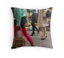 Three On A Mission Throw Pillow