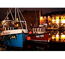 Plymouth Barbican at midnight Photographic Print