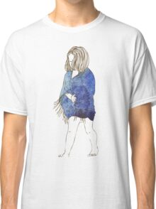 Little girl in a watercolor dress Classic T-Shirt