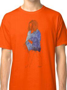 Little girl in a watercolor dress Classic T-Shirt