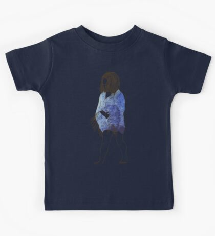 Little girl in a watercolor dress Kids Tee