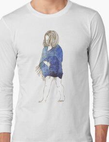 Little girl in a watercolor dress Long Sleeve T-Shirt