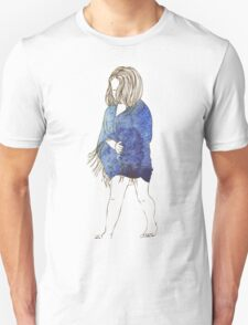 Little girl in a watercolor dress T-Shirt