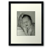 The Whole World in His Hand Framed Print