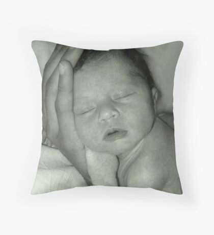 The Whole World in His Hand Throw Pillow