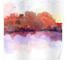 Simply Beautiful Landscape in Red Poster