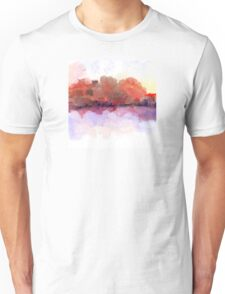 Simply Beautiful Landscape in Red Unisex T-Shirt