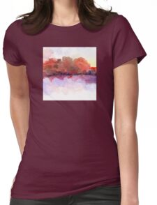 Simply Beautiful Landscape in Red Womens Fitted T-Shirt