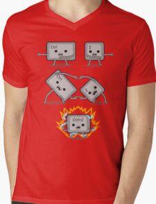 Control Z Fusion Mens V-Neck T-Shirt