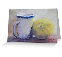 Cup and Lemon Greeting Card
