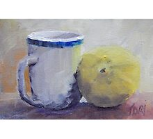 Cup and Lemon Photographic Print