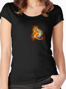 G-Clef Flame Women's Fitted Scoop T-Shirt