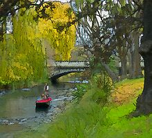 Punting on the Avon River, Christchurch, New Zealand by Shamus Macca