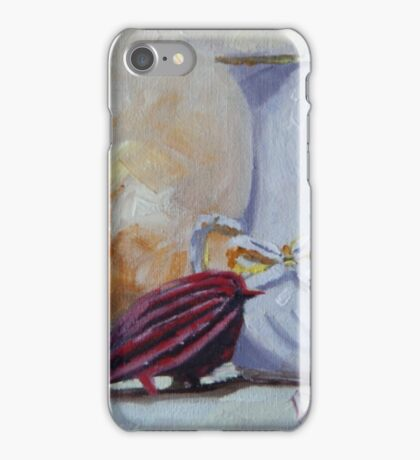 Vase and Little Red Bird iPhone Case/Skin
