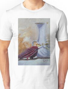 Vase and Little Red Bird Unisex T-Shirt