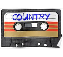 Country Cassette Tape Poster