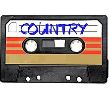 Country Cassette Tape Photographic Print
