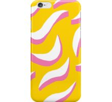 white squiggles on yellow background iPhone Case/Skin