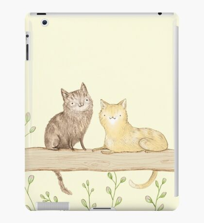 Cats on the Fence iPad Case/Skin