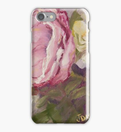 Shabby Pink Rose iPhone Case/Skin