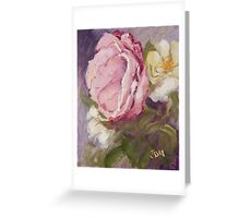 Shabby Pink Rose Greeting Card