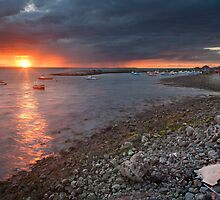 South Gare Sunset by pixelda