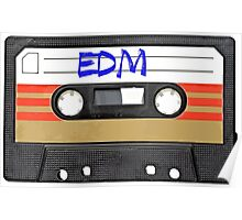 EDM - Electronic Dance Music cassette tape Poster