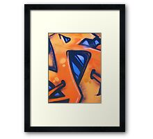 Orange and blue Graffiti Framed Print
