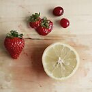 strawberries &amp; lemon by tresjoliestudio