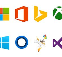 Microsoft logos - Stickers by lp4so